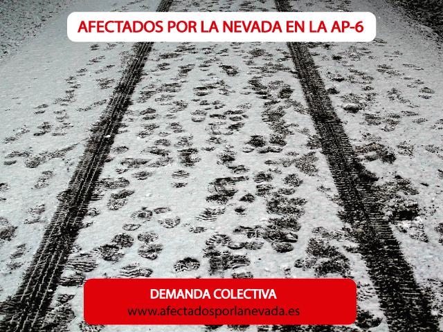 afectados por la nevada en la AP-